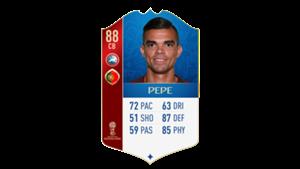 FIFA 18 UEFA World Cup Ratings Pepe