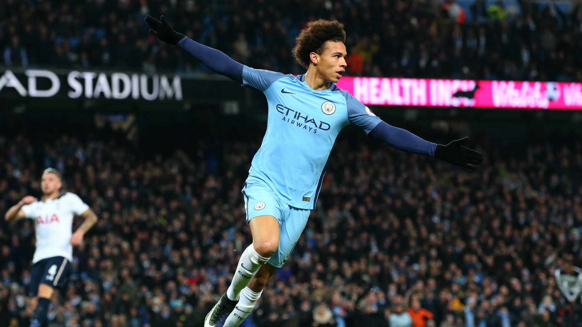 Leroy Sane Premier League Manchester City v Tottenham 210117