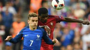 Antoine Griezmann William Carvalho Portugal France UEFA Euro 10072016