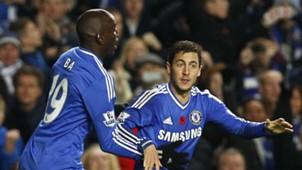 Demba Ba Eden Hazard Chelsea