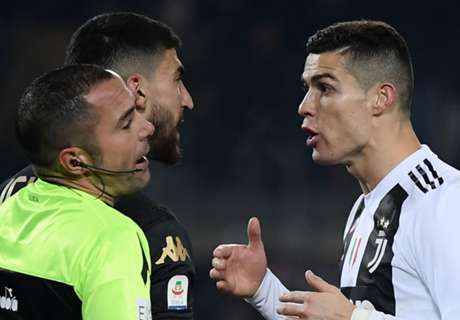 Ronaldo carded after netting Juve's 5000th Serie A goal