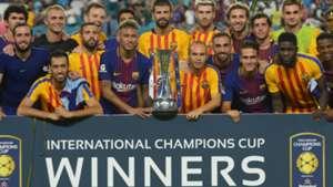 Barcelona lifting the International Champions Cup