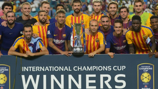 Barcelona lifting the International Champions Cup