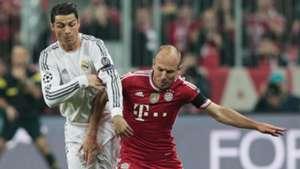 Cristiano Ronaldo Arjen Robben Real Madrid Bayern Munich