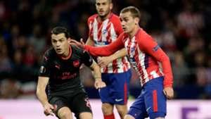 Antoine Griezmann Granit Xhaka Atletico Arsenal UEL 03052018