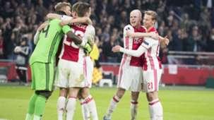 Davy Klaassen, Frenkie de Jong, Ajax - Schalke 04, 13042017