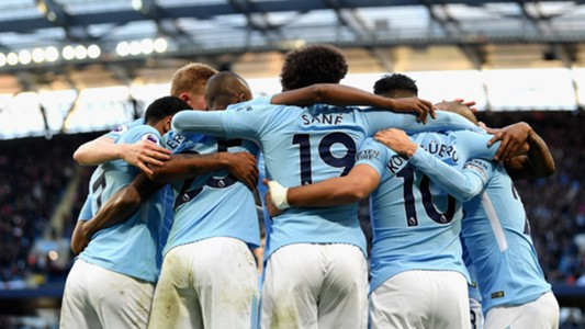 Manchester City Arsenal Jubel Sane 05112017