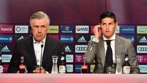 James Rodríguez & Carlo Ancelotti Bayern Munich 2017