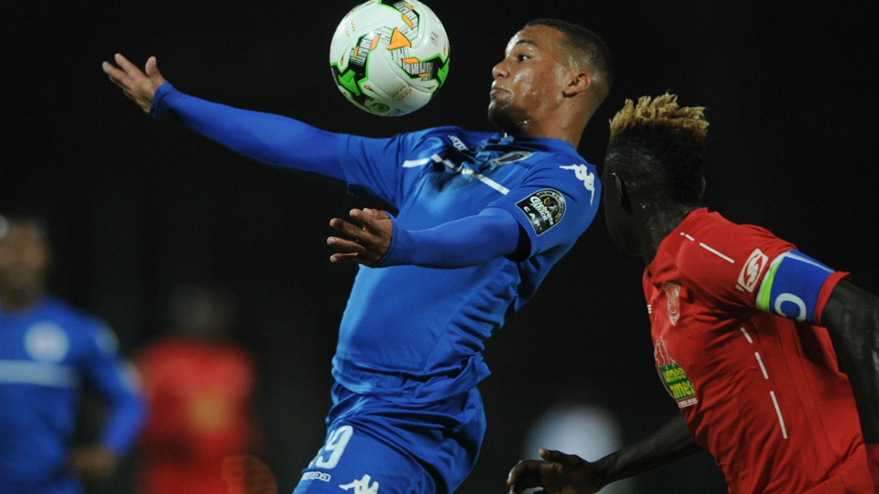 SuperSport United winger Fagrie Lakay against Horoya