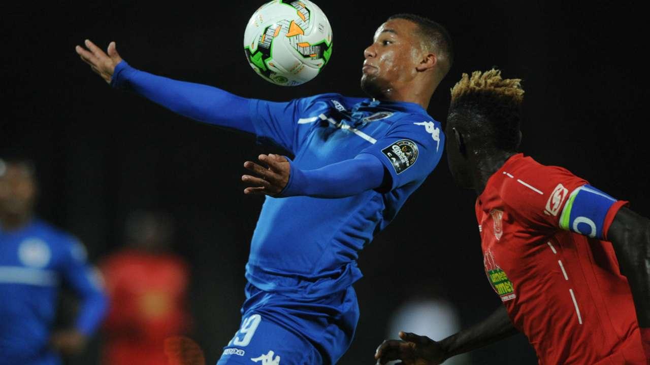 SuperSport United winger Fagrie Lakay against Horoya