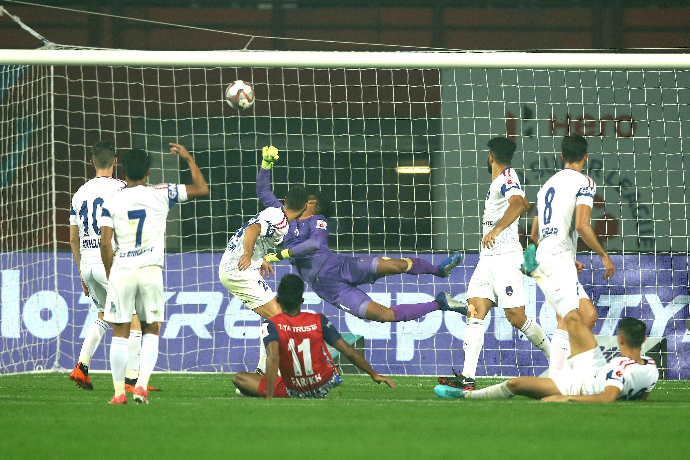 Choudhary Goal Jamshedpur Delhi ISL