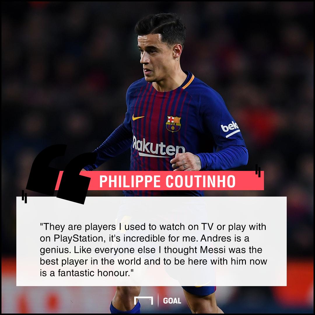 Philippe Coutinho Lionel Messi honour