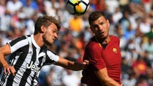 Rugani Dzeko Roma Juventus
