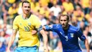 Zlatan Ibrahimovic Giorgio Chiellini Italy Sweden Euro 2016