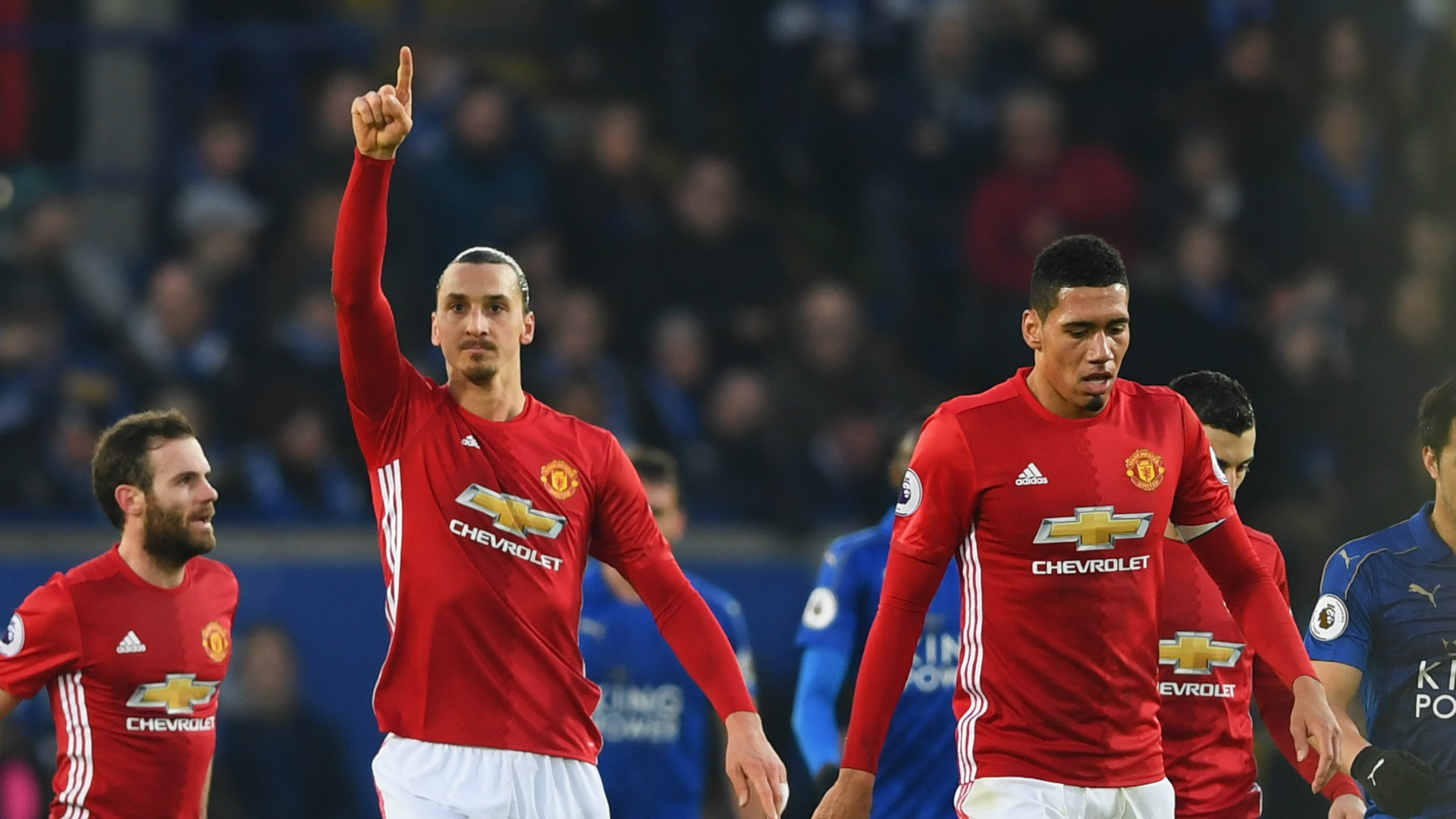 Zlatan Ibrahimovic Manchester United Leicester City 05022017