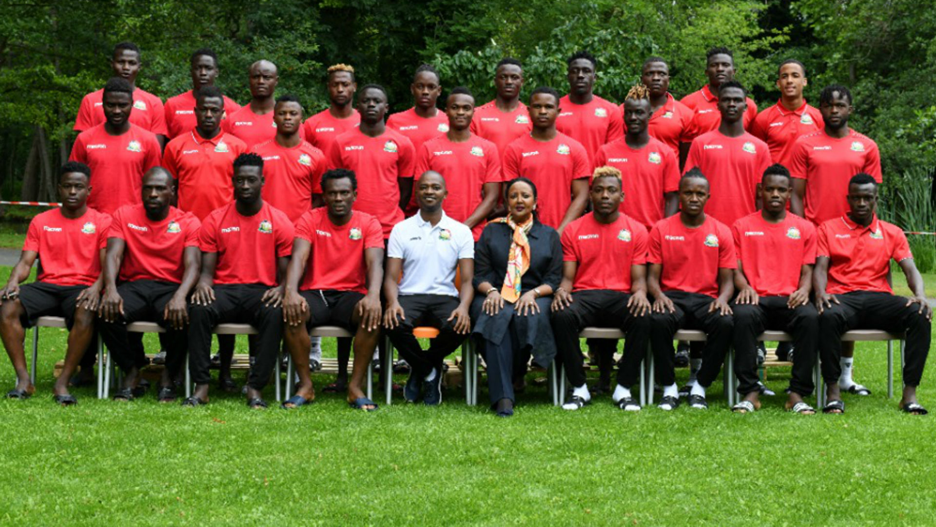Harambee Stars with CS Amina.