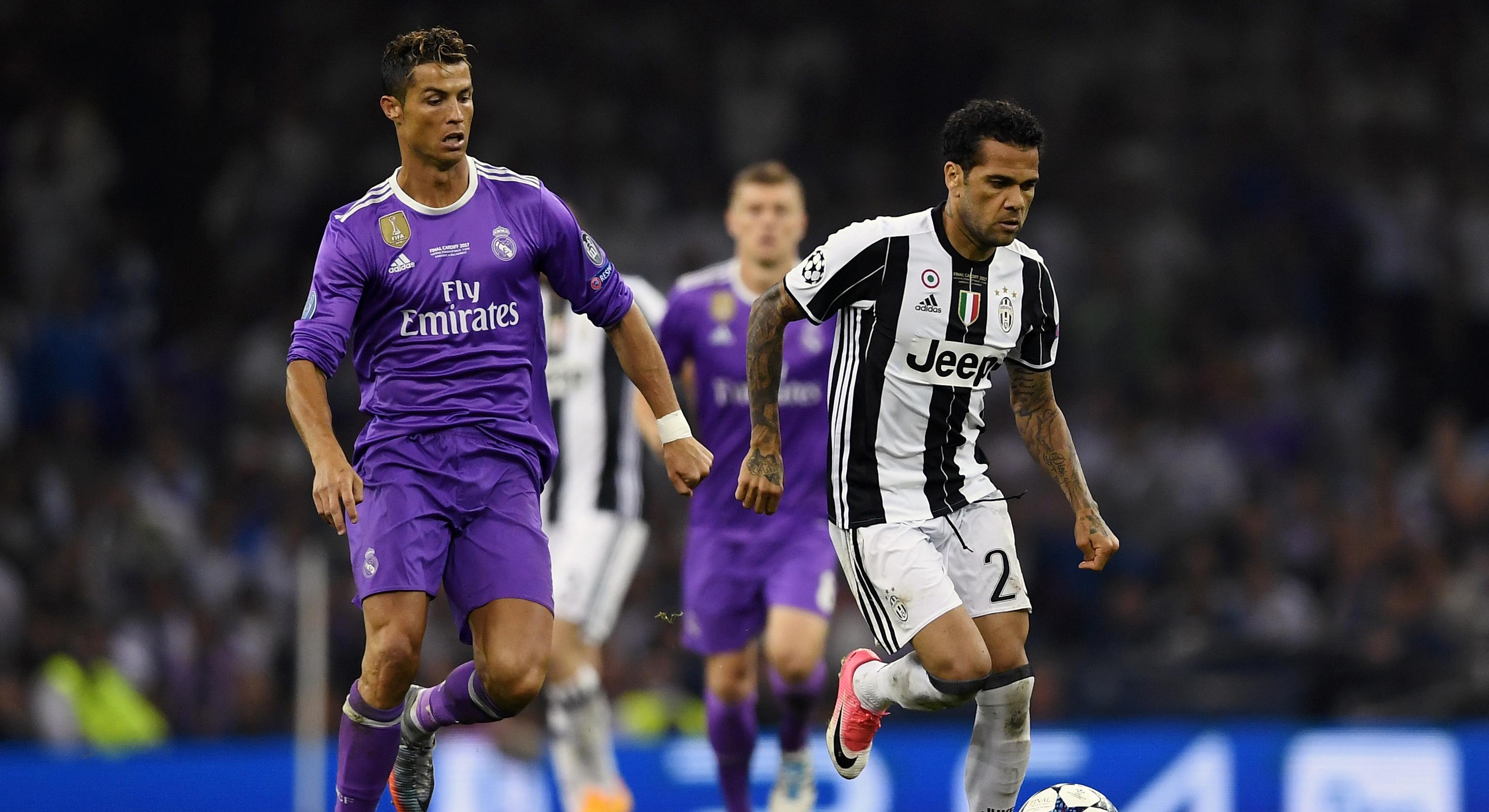 Dani Alves Cristiano Ronaldo Juventus Real Madrid