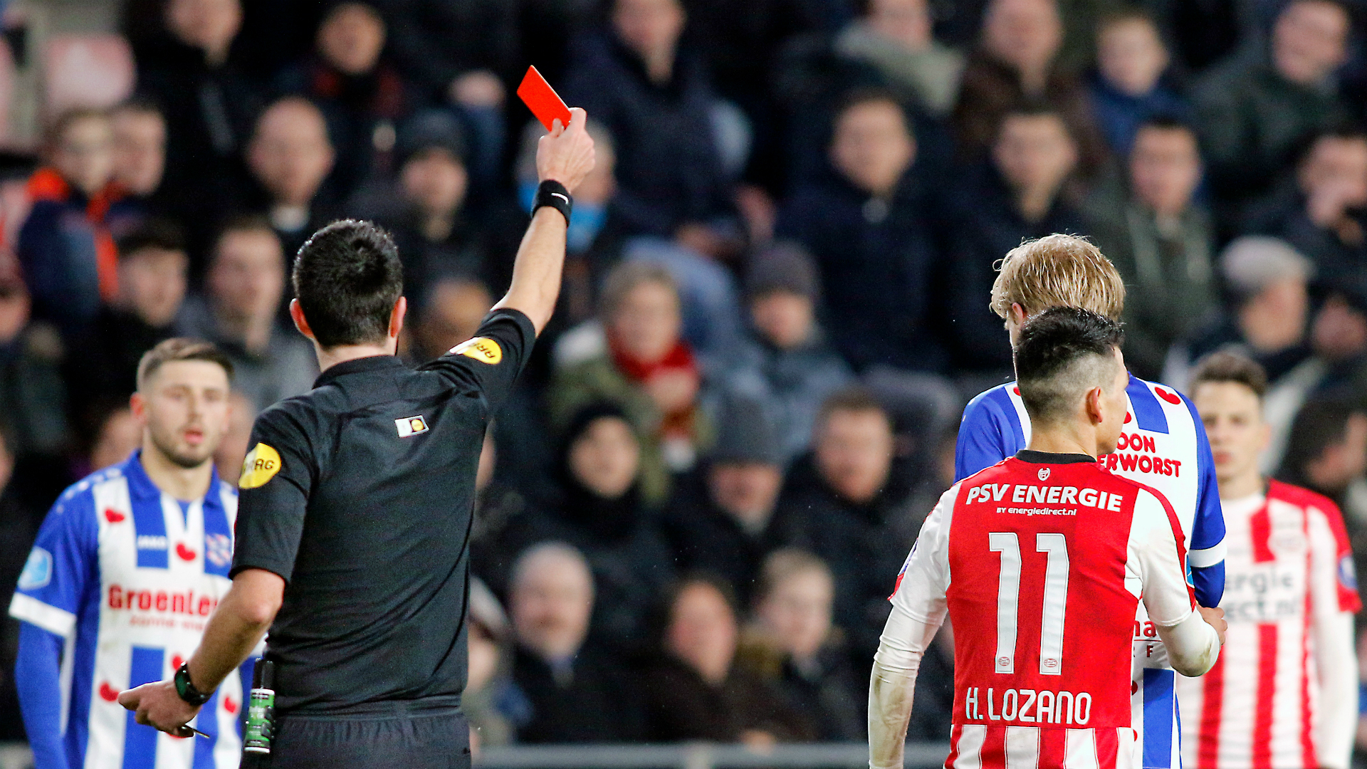 Lozano suspended three matches after PSV red card