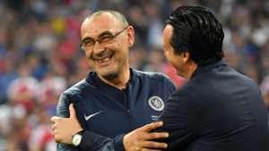 Maurizio Sarri Unai Emery Chelsea Arsenal