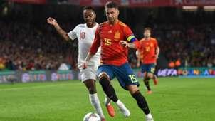 Sergio Ramos Raheem Sterling Spain England 15102018