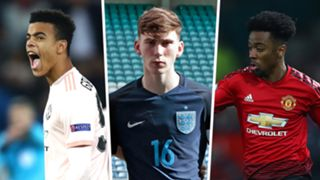 Mason Greenwood James Garner Angel Gomes Manchester United