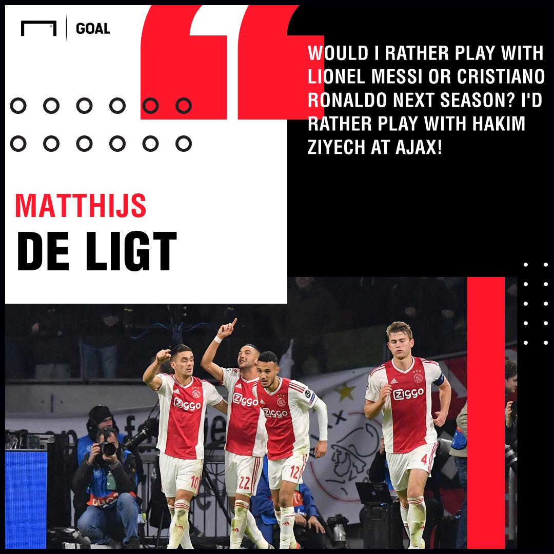 Matthijs De Ligt Hakim Ziyech Ajax PS