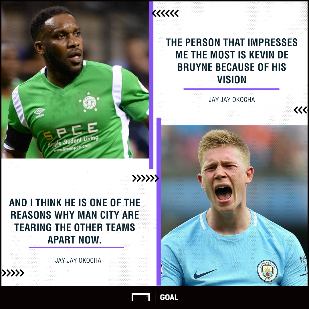 Okocha on De Bruyne