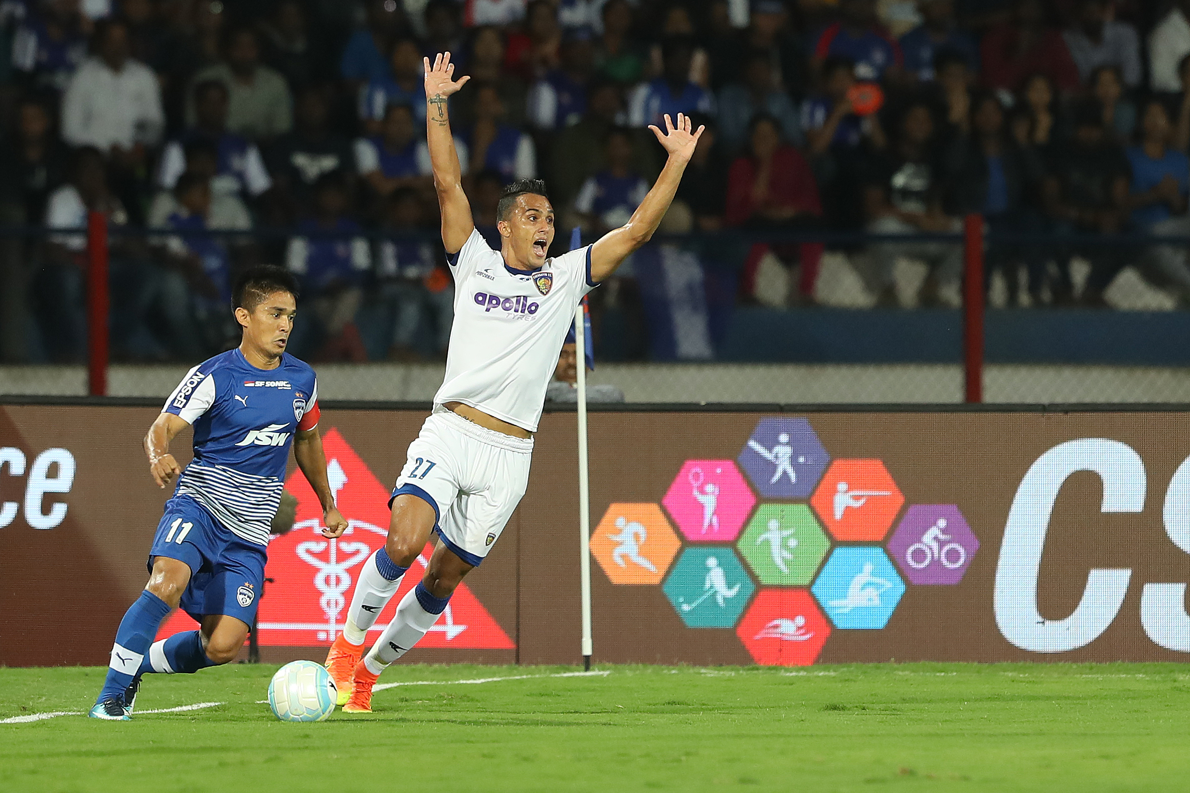 Mailson Alves Sunil Chhetri Bengaluru FC Chennaiyin FC 2017-18 Indian Super League Final