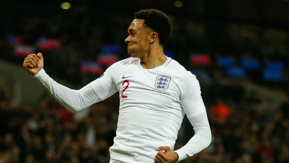 Alexander-Arnold becomes youngest Liverpool player in 20 years to score for England
