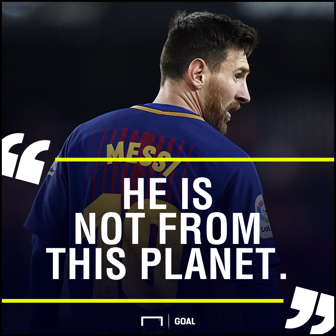 Lionel Messi Gerard Pique not from this planet