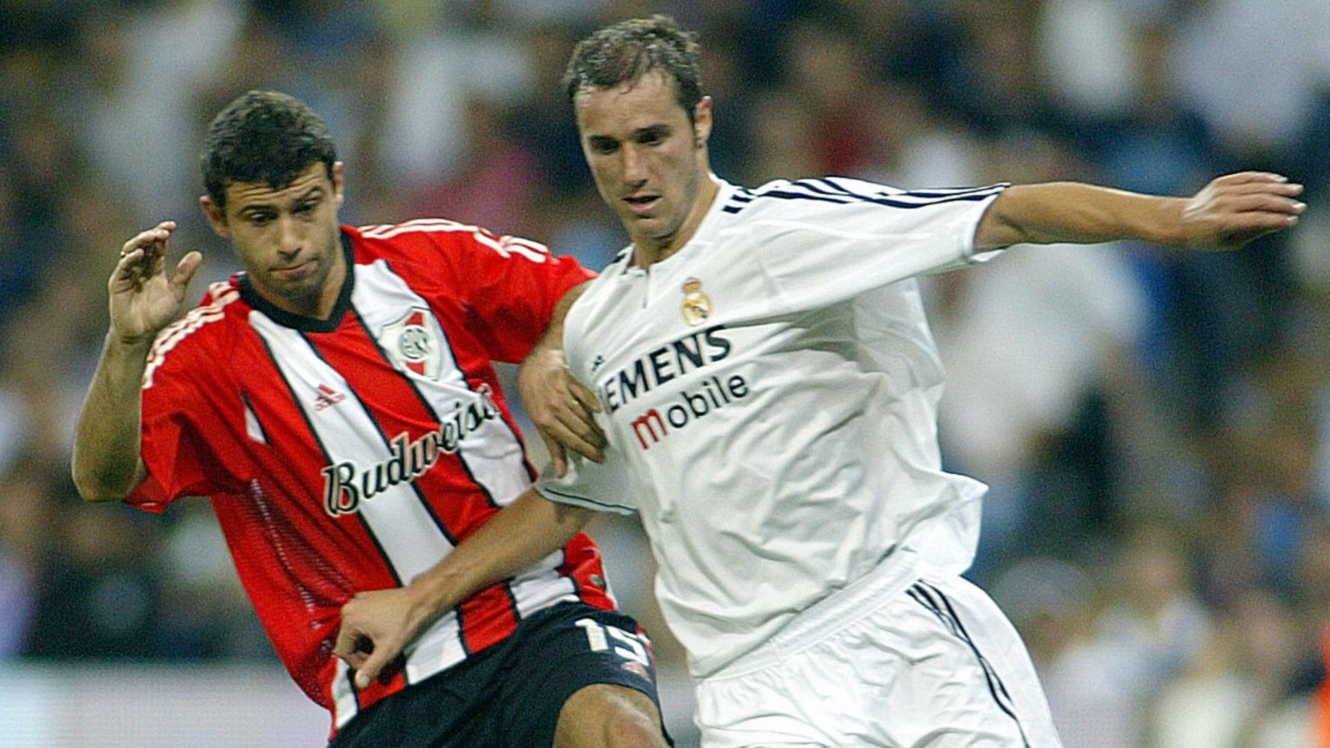 Ivan Helguera Mascherano Real Madrid River Santiago Bernabeu 2003