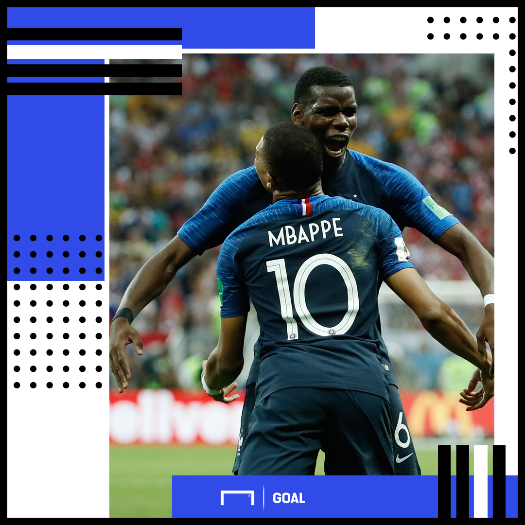 Paul Pogba Kylian Mbappe France PS