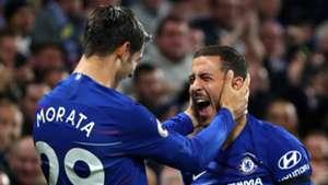 Alvaro Morata Eden Hazard Chelsea 2018