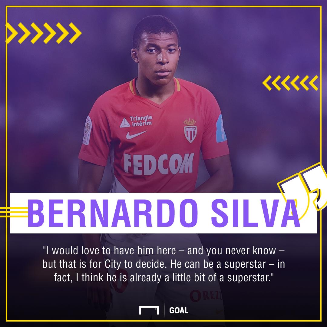 Bernardo Silva Kylian Mbappe Manchester City