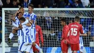 Leganes celebrate vs Real Madrid