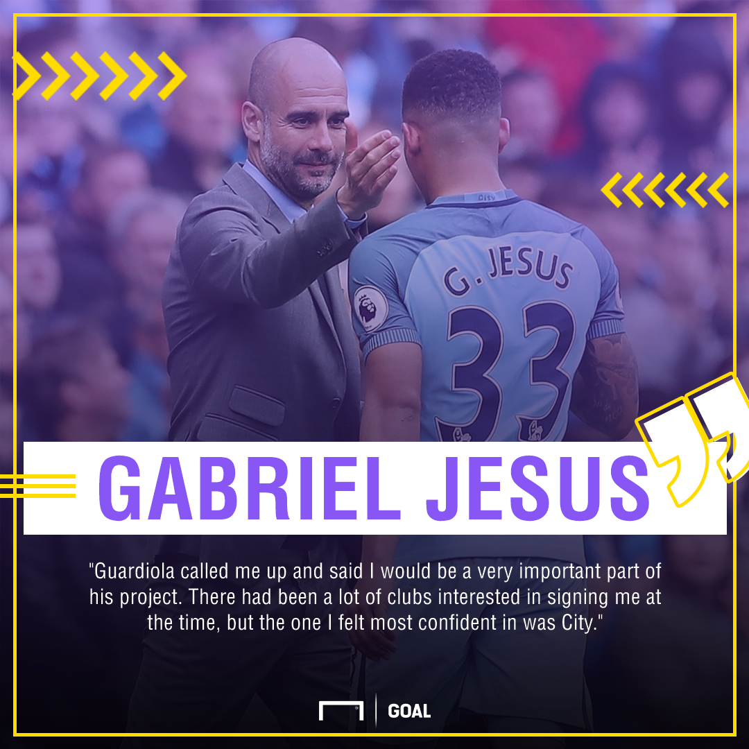 Gabriel Jesus Pep Guardiola Manchester City choice