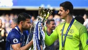 Diego Costa Thibaut Courtois Chelsea