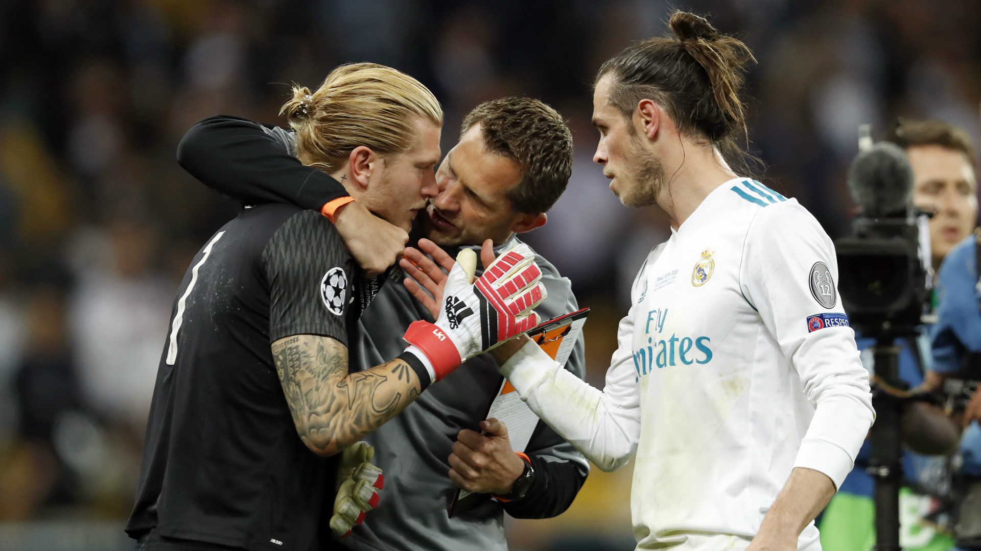 Loris Karius Gareth Bale Liverpool Real Madrid 2017-18