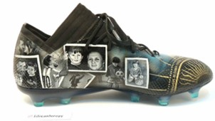 Lionel Messi hand painted boot