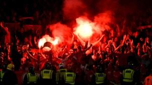 Koln fans Arsenal