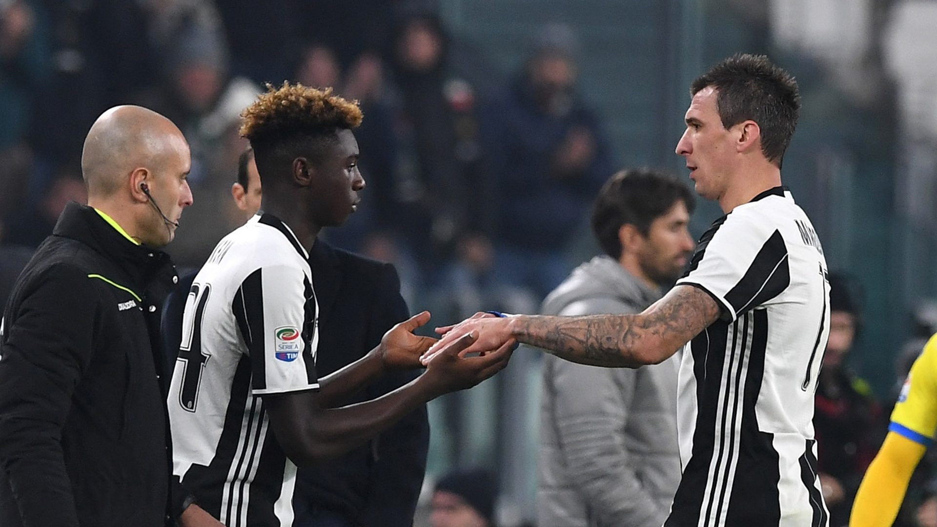 Moise Kean Mario Mandzukic Juventus