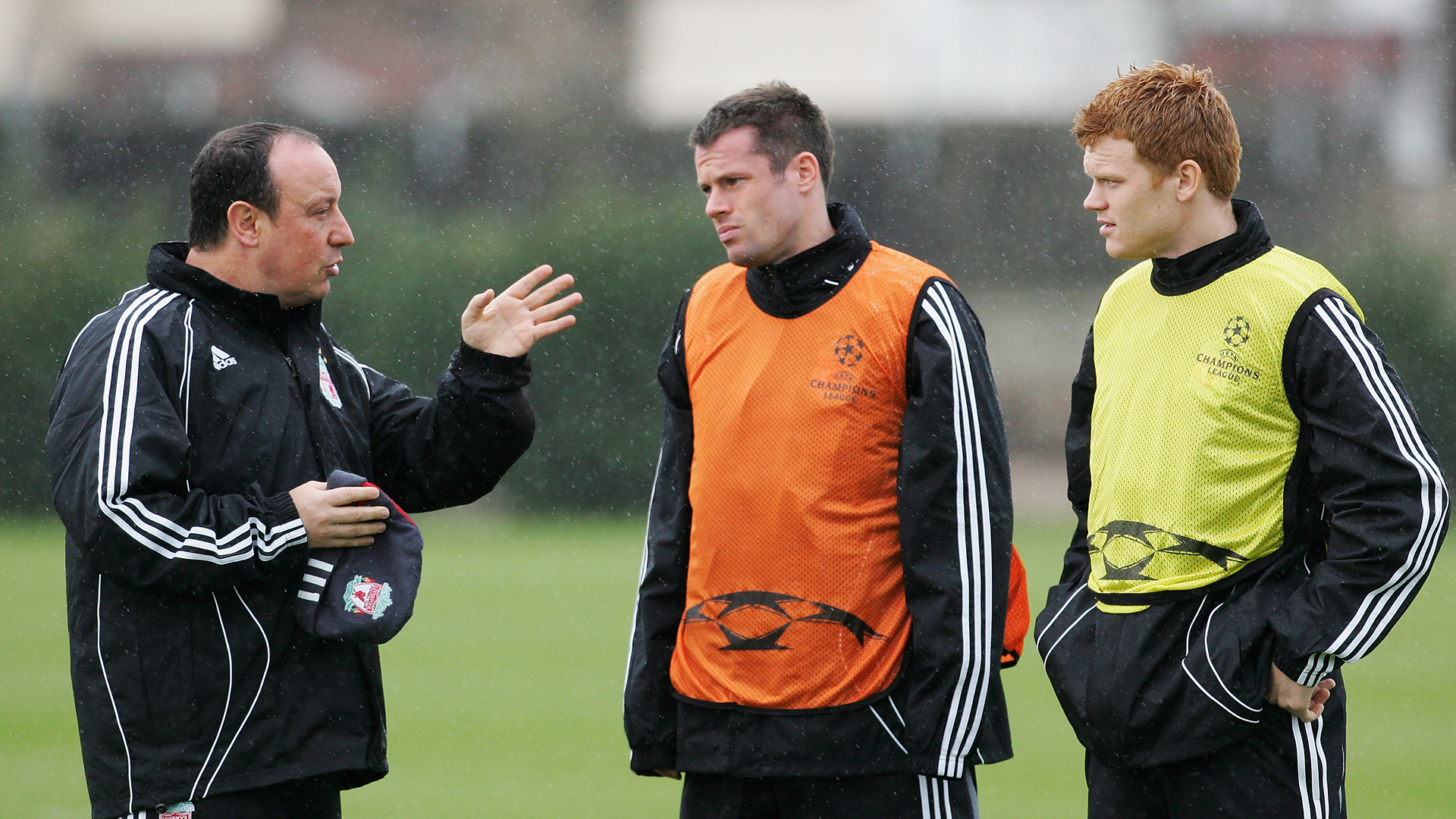 Benitez Carragher Riise Liverpool