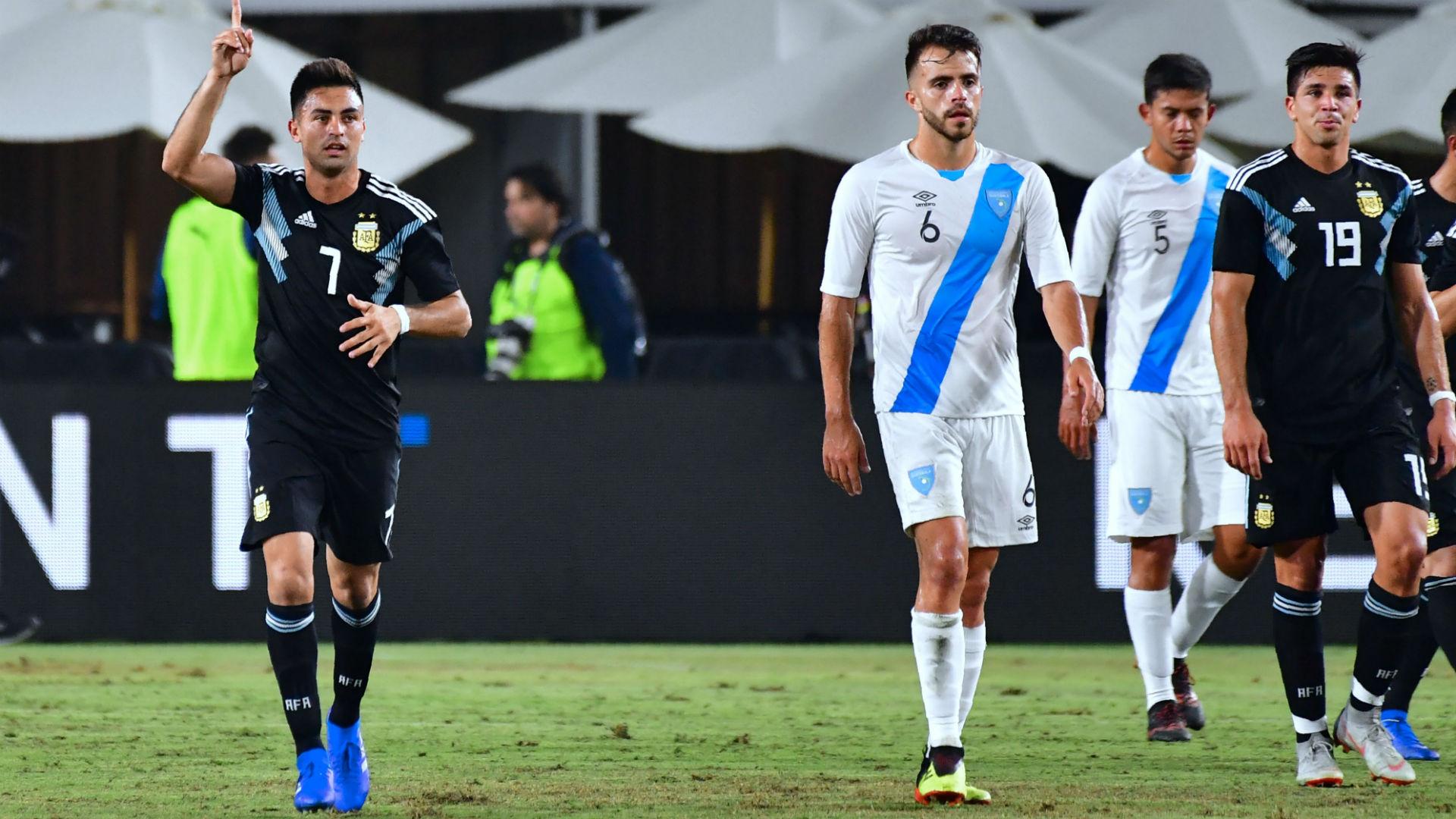 Gonzalo Pity Martinez Argentina Guatemala Amistoso 08092018