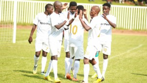 AFC Leopards players celebrates Ezekiel Odera goal.