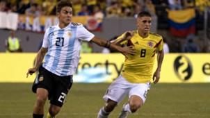 Dybala Cuellar Argentina Colombia Amistoso Internacional 11092018
