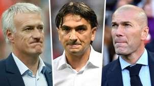 GFX Dider Deschamps Zlatko Dalic Zinedine Zidane FIFA The Best Coach award