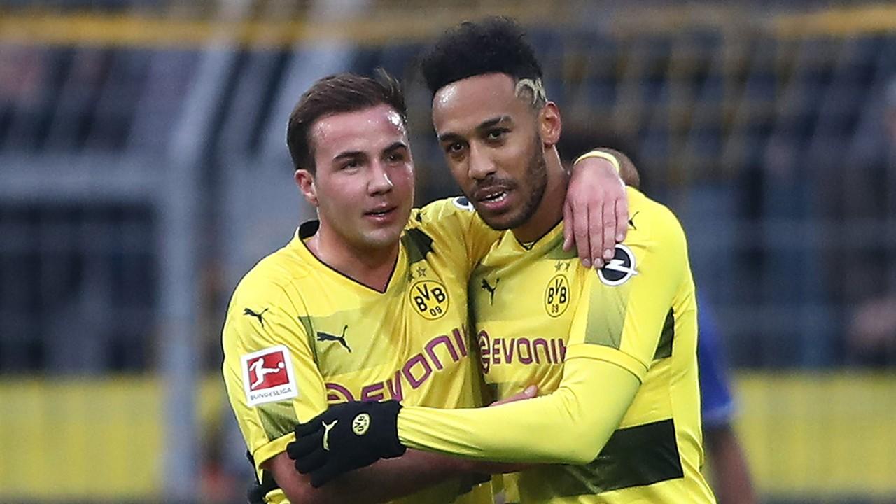 Borussia Dortmund Schalke 04 20171125 Götze Aubameyang