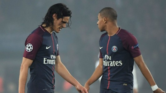 Edinson Cavani Kylian Mbappe PSG Real Madrid Champions League
