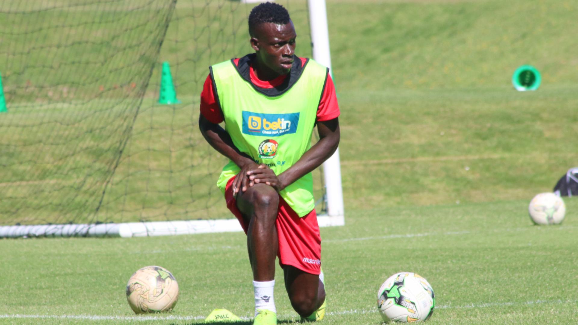 Harambee Stars defender Philemon Otieno and Gor Mahia.
