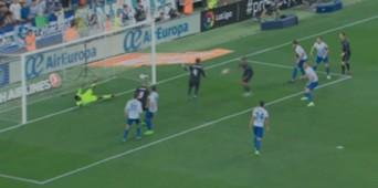 Benzema fuera de juego Málaga - Madrid